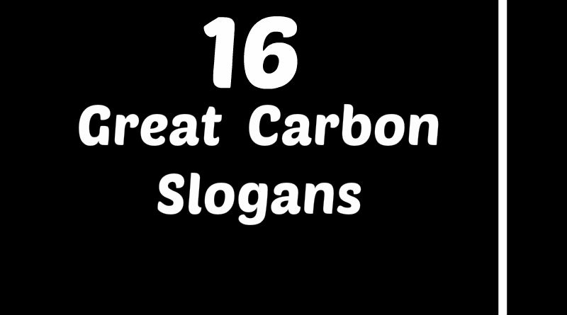 16 Great Examples of Carbon Slogans & Taglines