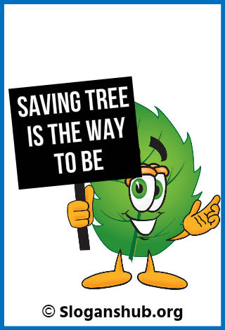 Slogans on Save Trees. Saving tree is the way to be