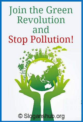 Reducing pollution slogan