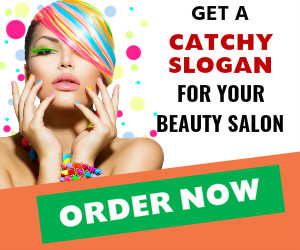 Get a slogan for beauty salon