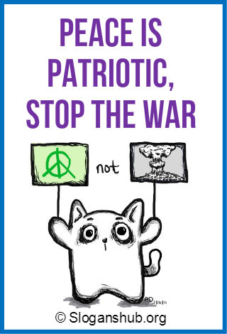 Slogans on Prevention of War & Promotion of Peace