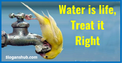 water slogans-Water is life, treat it right
