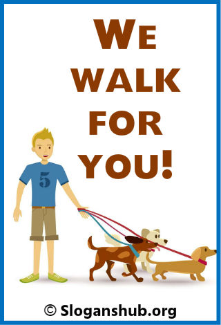 Dog Walking Slogans 2