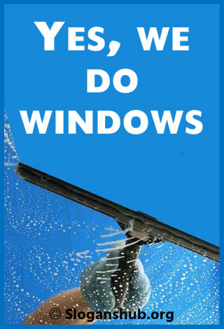 Window Cleaning Company Slogans 2