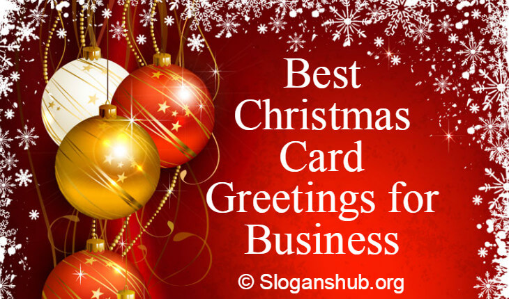 50 best christmas card greetings for business reheart Image collections