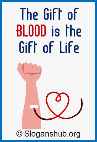 Blood Donation Slogans 1