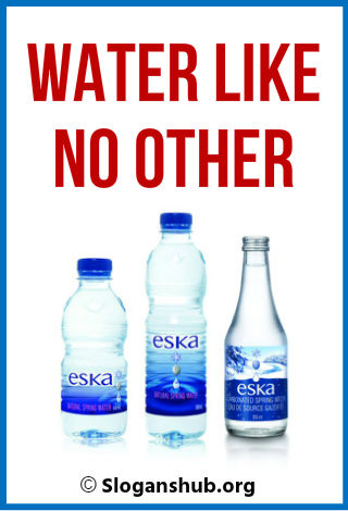 Bottled Water Slogans