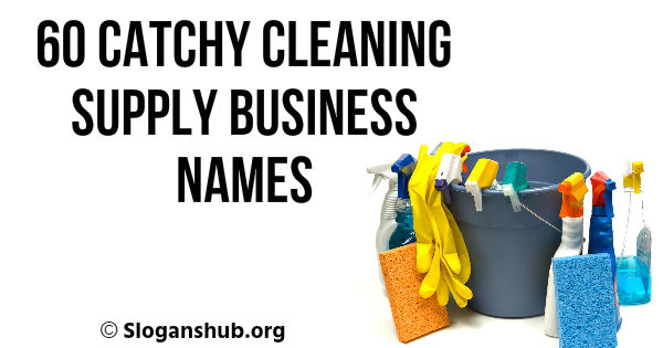 Cleaning Supply Business Names