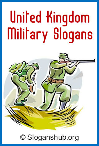 United Kingdom Military Slogans